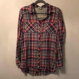 We The Free Flannel Shirt size medium